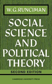 Social science and political theory de W. G.…