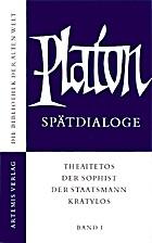 Spätdialoge Band I : Theaitetos / Der…