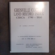 Grenville County Land Record Index, Circa…