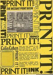 Print it! de Colin Cohen