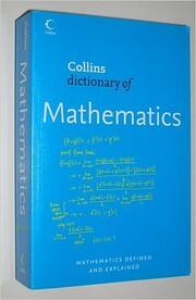 Collins Dictionary of Mathematics de E. J.…