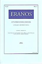 Eranos : acta philologica Suecana by Various