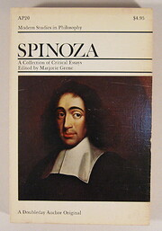 Spinoza : a collection of critical essays av…