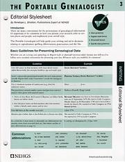 Portable Genealogist: Editorial Stylesheet…