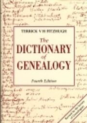 The Dictionary of Genealogy – tekijä:…