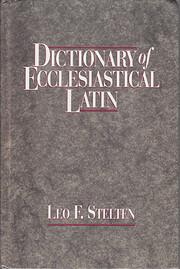 Dictionary of Ecclesiastical Latin av Leo F…