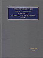 Cumulative index to the annual catalogues of…