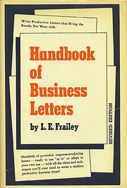 Handbook of Business Letters de L. E.…