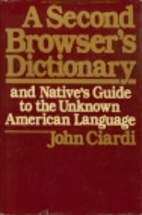 A Second Browser's Dictionary and Native's…