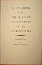 A handbook for the study of book history in…
