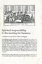 Spiritual responsibility in the meeting for…