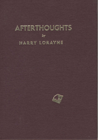 Afterthoughts by Harry Lorayne