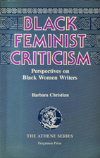 Black Feminist Criticism by Barbara…