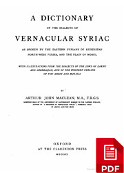 A Dictionary of the Dialects of Vernacular…