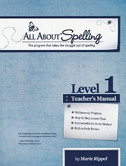 All About Spelling Level 1, Teacher's Manual…