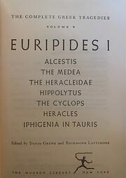 Euripides I (The Complete Greek Tragedies…