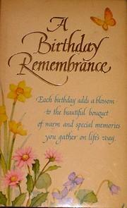 A Birthday Remembrance – tekijä: Donald…