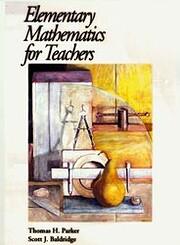 Elementary Mathematics for Teachers por…