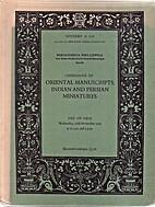 Catalogue of Oriental Manuscripts, Indian…