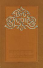 BYU Studies - Volume 20, Number 4 (Summer…