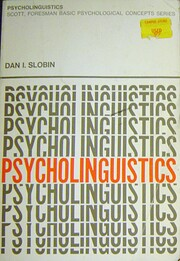 Psycholinguistics de Dan Isaac Slobin