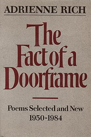 The Fact of a Doorframe: Poems Selected and…
