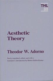 Aesthetic Theory (Theory and History of…