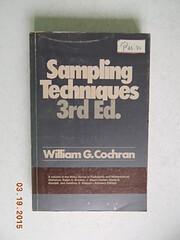 Sampling Techniques, 3rd Edition por William…