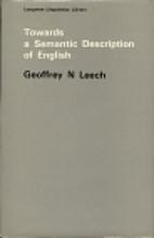 Towards a semantic description of English by…