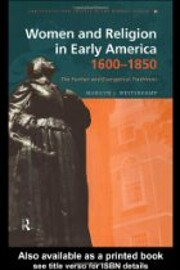 Women and religion in early America,…