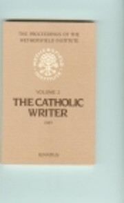 The Catholic Writer: Papers Presented at a…