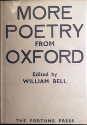 More poetry from Oxford de William Bell