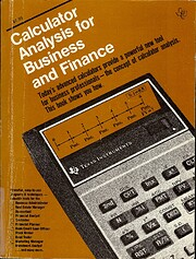 Calculator Analysis for Business and Finance…