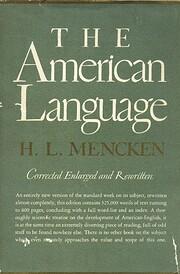 The American Language de H. L. Mencken