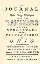 The Journal of Major George Washington: An…