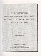 The dit name: French-Canadian surnames,…