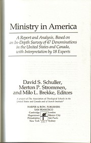 Ministry in America: A report and analysis,…