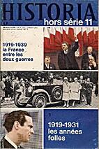 HISTORIA hors série 11 : 1919-1939 La…