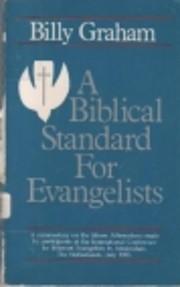 A biblical standard for evangelists af Billy…