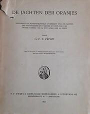De jachten der Oranjes di G.C.E. Crone