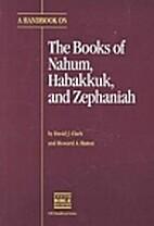 Translator's Handbook on the Books of Nahum,…