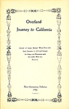 Overland Journey to California by James…
