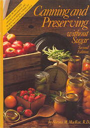 Canning and Preserving Without Sugar af R.…