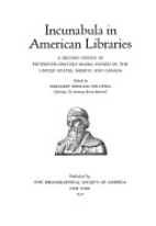 Incunabula in American Libraries: A Second…