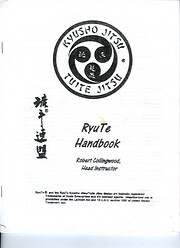 RyuTe handbook de Robert Collingwood