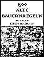 1500 Alte Bauernregeln (German Edition) by…