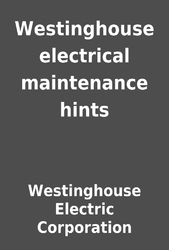 Electric Testing and Maintenance Lectures