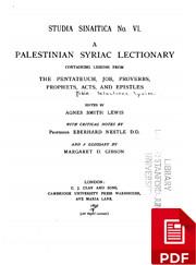 A Palestinian Syriac Lectionary – tekijä:…