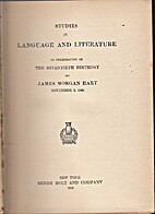 Studies in language and literature in…