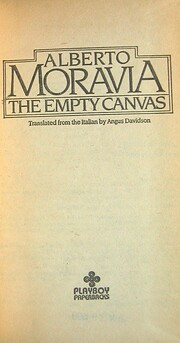 The Empty Canvas de Alberto Moravia